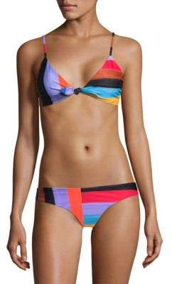 Mara Hoffman Colorblock Bikini Top