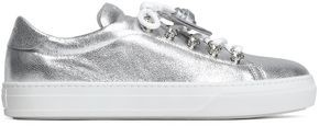 Tod's Metallic Embellished Textured-leather Sneakers