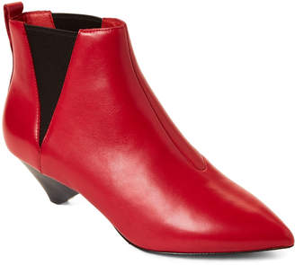 3d6a9ba419a0 Ash Red Pointed Toe Leather Ankle Boots