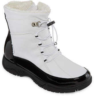 totes Womens Robin Waterproof Winter Boots Lace-up