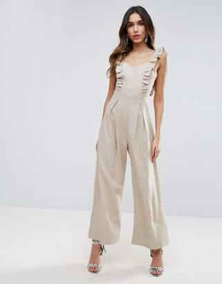 Asos Jumpsuit With Frill Detail