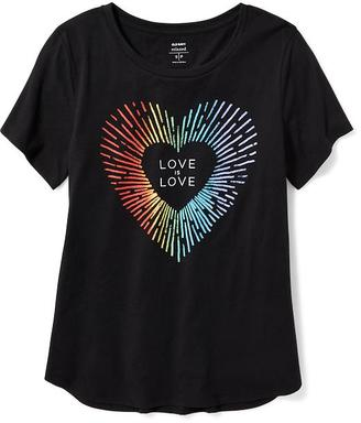 2017 Pride Graphic Curved-Hem Tee for Women $14.94 thestylecure.com