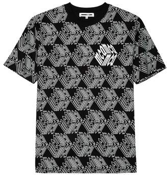 McQ Glow-in-the-dark Printed Cotton T-shirt