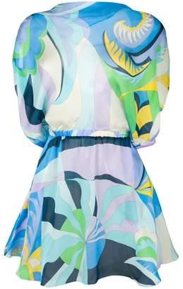 dfebf061ad Emilio Pucci Acapulco Print Silk Beach Dress