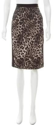Roland Mouret Leopard Print Pencil Skirt