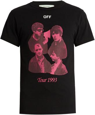 OFF-WHITE Tour 1993 cotton-jersey T-shirt $195 thestylecure.com