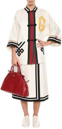 Gucci Wed Details Linen Skirt