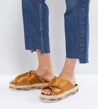 Sixty Seven Sixtyseven Adiva Mustard Flatform Espadrille Sandals