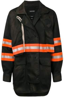Calvin Klein reflective pannels jacket