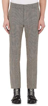 Alexander McQueen MEN'S HOUNDSTOOTH WOOL TWEED TROUSERS