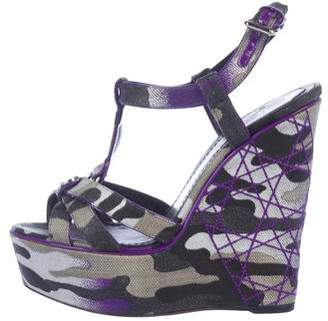 Christian Dior x Anselm Reyle Camouflage Wedges