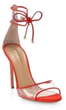 Aquazzura Carnation Suede Optic Sandals