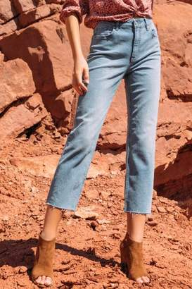 francesca's Harper Heritage Straight Cropped Light Jeans - Lite
