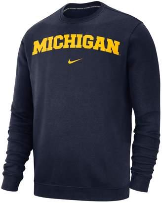 Nike Men's Michigan Wolverines Club Sweatshirt
