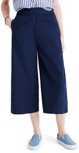 Women's Madewell Mayfield Cotton Poplin Culottes