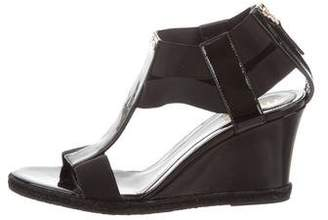 Fendi Cutout Wedge Sandals