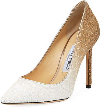Jimmy Choo Romy 100mm Ombre Glitter Pumps