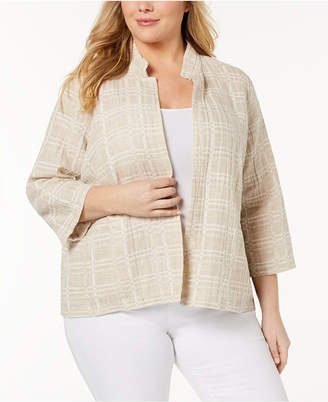 Eileen Fisher Plus Size Organic Cotton Blend Jacket