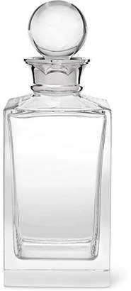 clear Asprey - Crystal And Sterling Silver Decanter