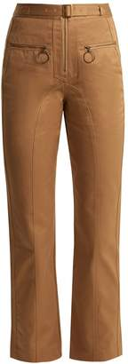 Self-Portrait High-rise cotton straight-leg trousers