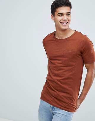 Selected T-Shirt With Stitch Detail Pocket