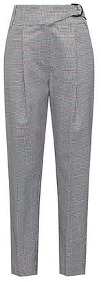 HUGO BOSS Tapered-leg cotton trousers with zigzag check
