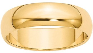 Best Price Product 14k 6mm Half-Round Wedding Band