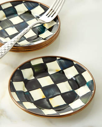 Mackenzie Childs MacKenzie-Childs Courtly Check Enamel Canape Plate