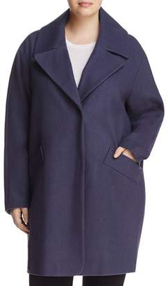 Andrew Marc Plus Wendy Notched Collar Coat
