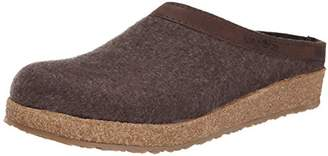 Haflinger Unisex GZL Leather Trim Grizzly Clog/Mule 44(USM11) Medium