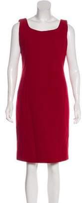 Armani Collezioni Wool Sleeveless Knee-Length Dress