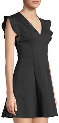 BCBGeneration Flutter-Sleeve V-Neck Dress