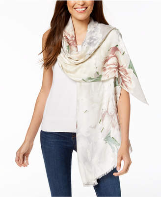 INC International Concepts I.N.C. Painted Dusk Floral Wrap & Scarf in One, Created for Macy's