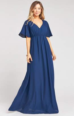 Show Me Your Mumu Emily Empire Maxi Dress ~ Rich Navy Crisp