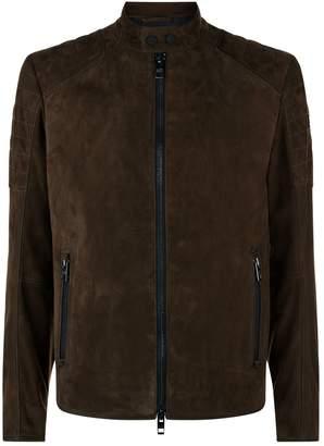BOSS ORANGE Suede Leather Biker Jacket