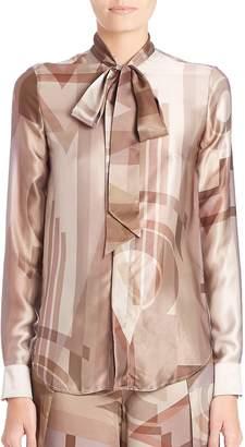 Ralph Lauren Women's Sheryl Printed Silk Blouse