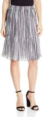 Ellen Tracy Women's Size Smocked Waist Pleated Skirt