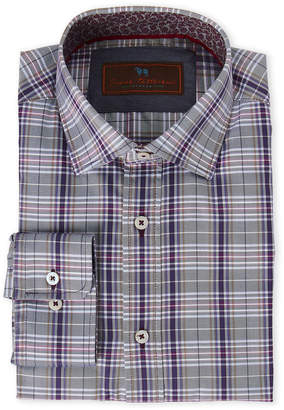 James Tattersall Blue & Purple Plaid Shirt