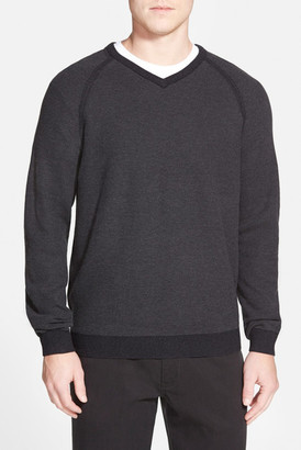 Tommy Bahama Make Mine a Double V-Neck Sweater (Reversible) $128 thestylecure.com