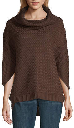 A.N.A Womens Cowl Neck 3/4 Sleeve Pullover Sweater