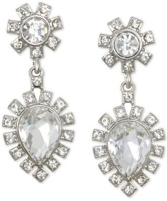 Badgley Mischka Silver-Tone Crystal Drop Earrings