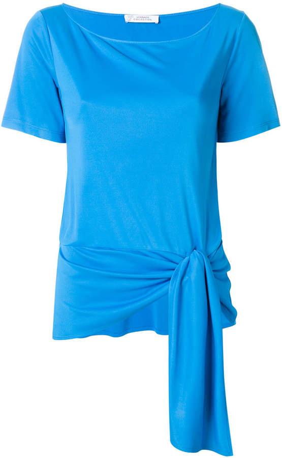 versace t shirt mit knotendetail damen. Black Bedroom Furniture Sets. Home Design Ideas