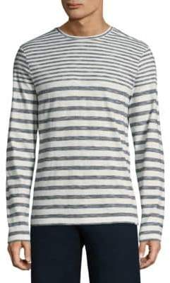 Orlebar Brown Long-Sleeve Stripe Cotton Tee