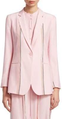 Emporio Armani Silk Striped Fluid Jacket