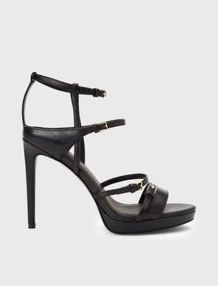 Calvin Klein shantell leather heel sandal
