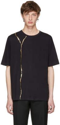 Haider Ackermann Black Perfusion Foil T-Shirt