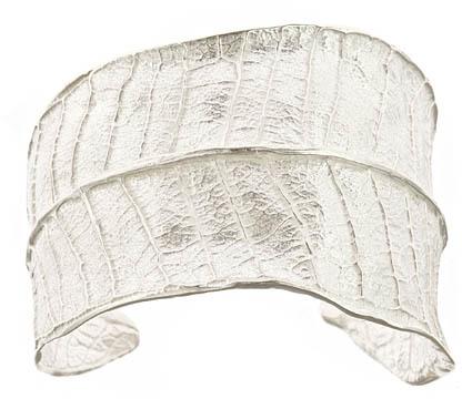 Catherine Weitzman Plumeria Leaf Silver Cuff