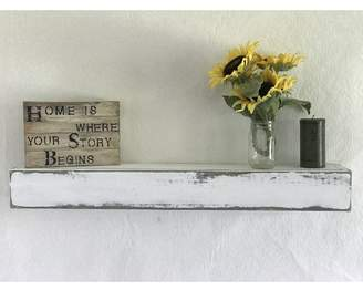 Essex Hand Crafted Wood Products Reclaimed Distressed Wood Floating Shelf
