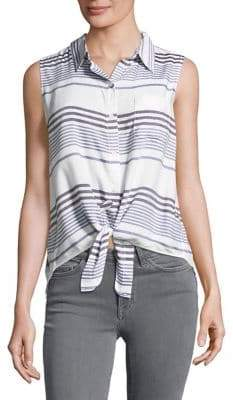 Beach Lunch Lounge Striped Sleeveless Top