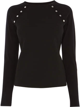Karen Millen Ribbed Panel Top